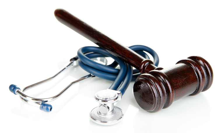 Stephen C. Carter, PC Attorney at Law | Hartwell, GA | medical law concept, gavel and stethescope